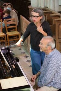 La flûtiste Sophie Deshayes est aussi coordinatrice du festival de musique de chambre de Tonnerre dans l'Yonne. ©Dominique Déhan