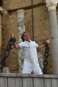 Roberto Alagna chante Samson aux Chorégies d'Orange. Photo crédit Philippe Gromelle.